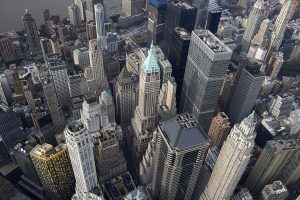 Aerial view of New York City, New York State, USA