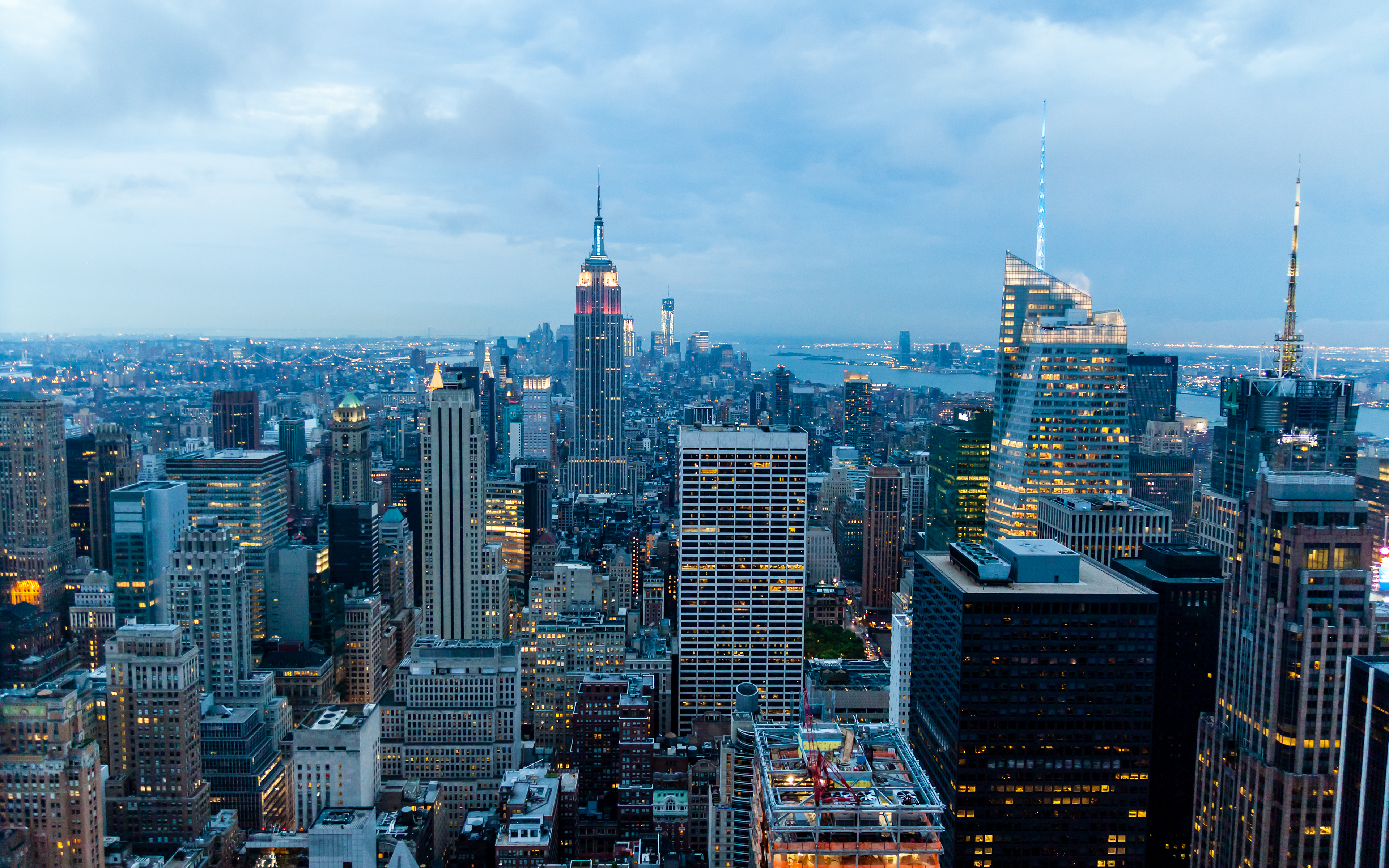 New York Skyscrapers View Wallpaper 3840x2400 px