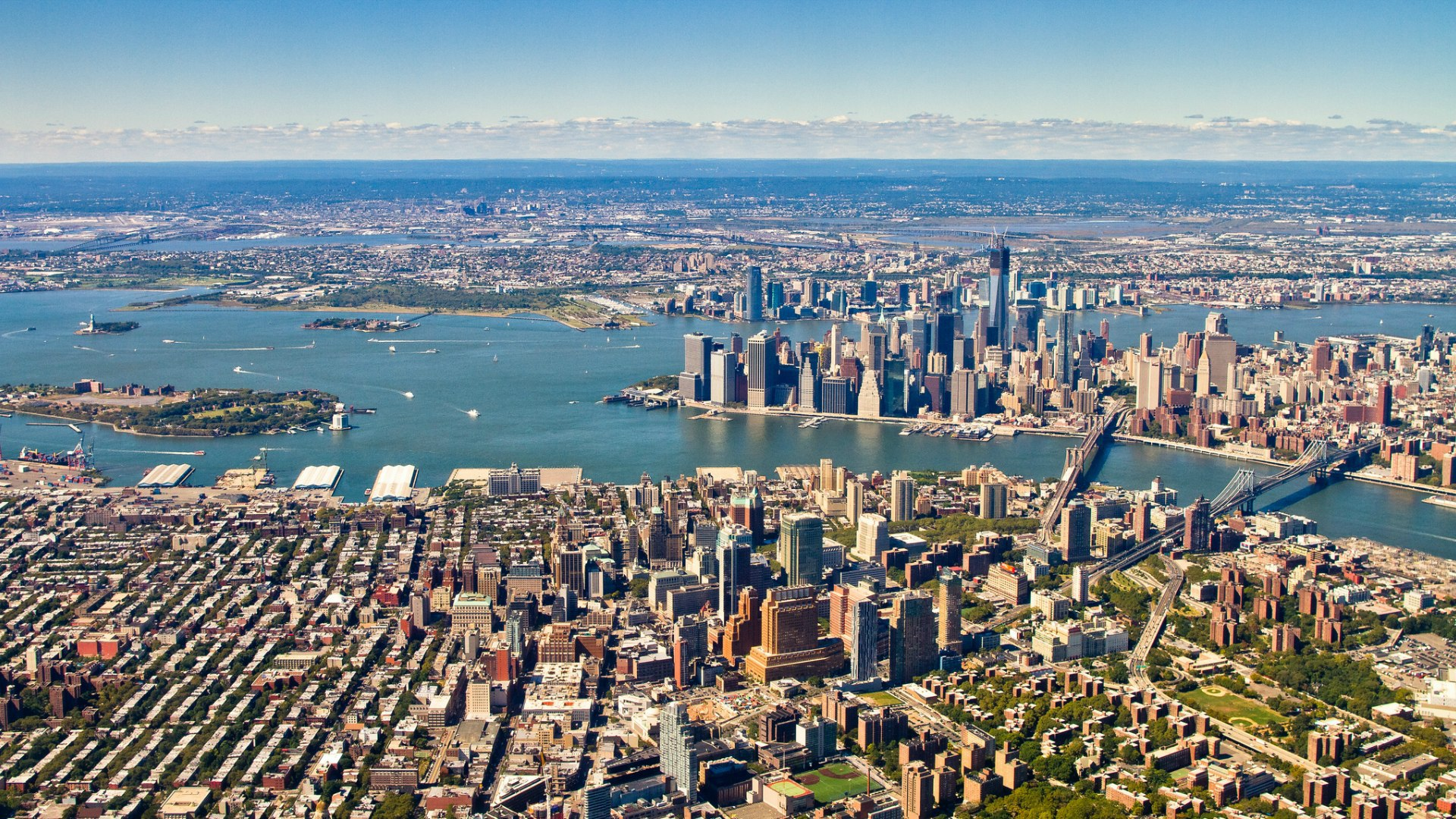 Large panorama of New York Wallpaper 1920x1080 px