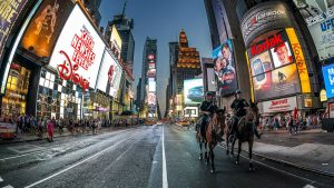 New York City Time Square In The Night