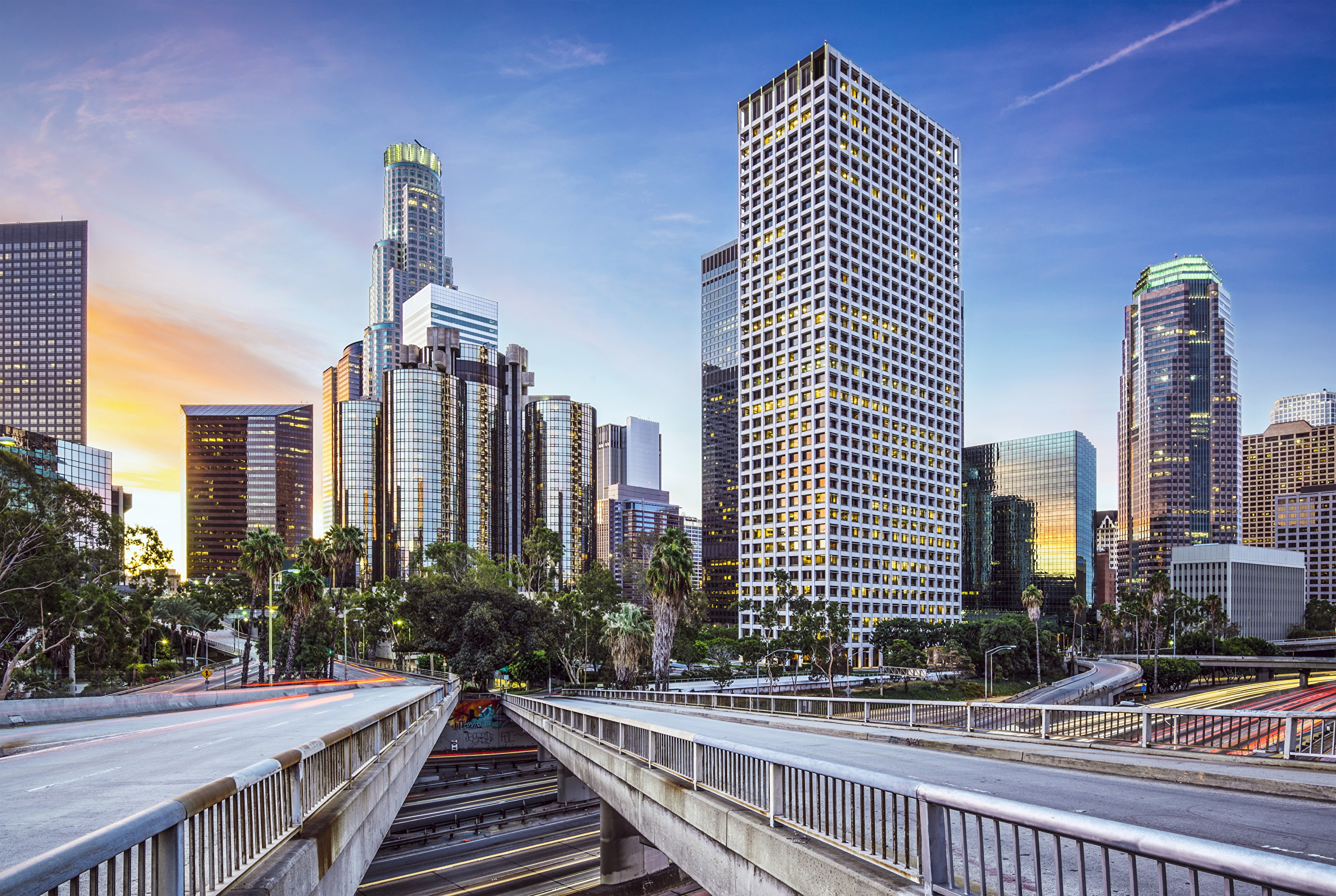 Downtown Los Angeles, California Wallpaper 2560x1717 px