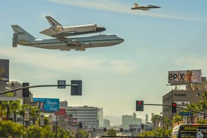 Space Shuttle Being Carried By A 747 Los Angeles California