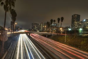 Highway Night Cover, Los Angeles, California