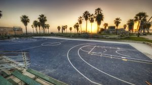 Park Basketball Court Background