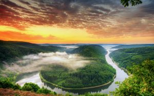 Saarschleife (Saar Loop), Orscholz, Germany