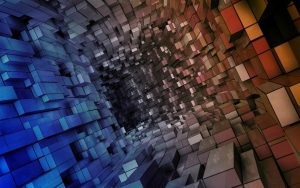 3D Cubes Abstract Photo