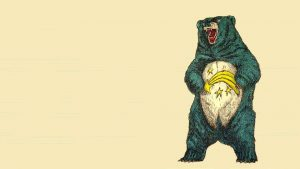 Cartoon Scary Grizzly Bear