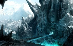 Fantasy Ice Mountain