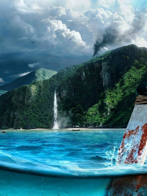 Far Cry 3 Knife In Water Wallpaper Drive