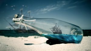 Pirates Of Caribbean Ship – Message In A Bottle