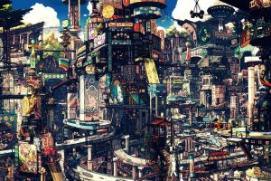 Steampunk Futuristic City